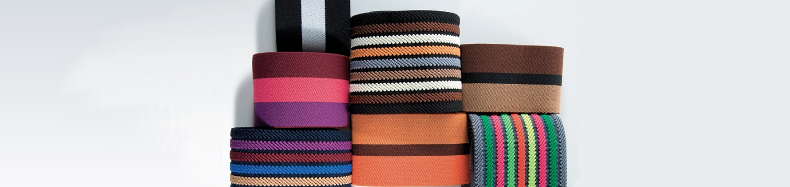 Elastic and rigid ribbon for clothing, Milano